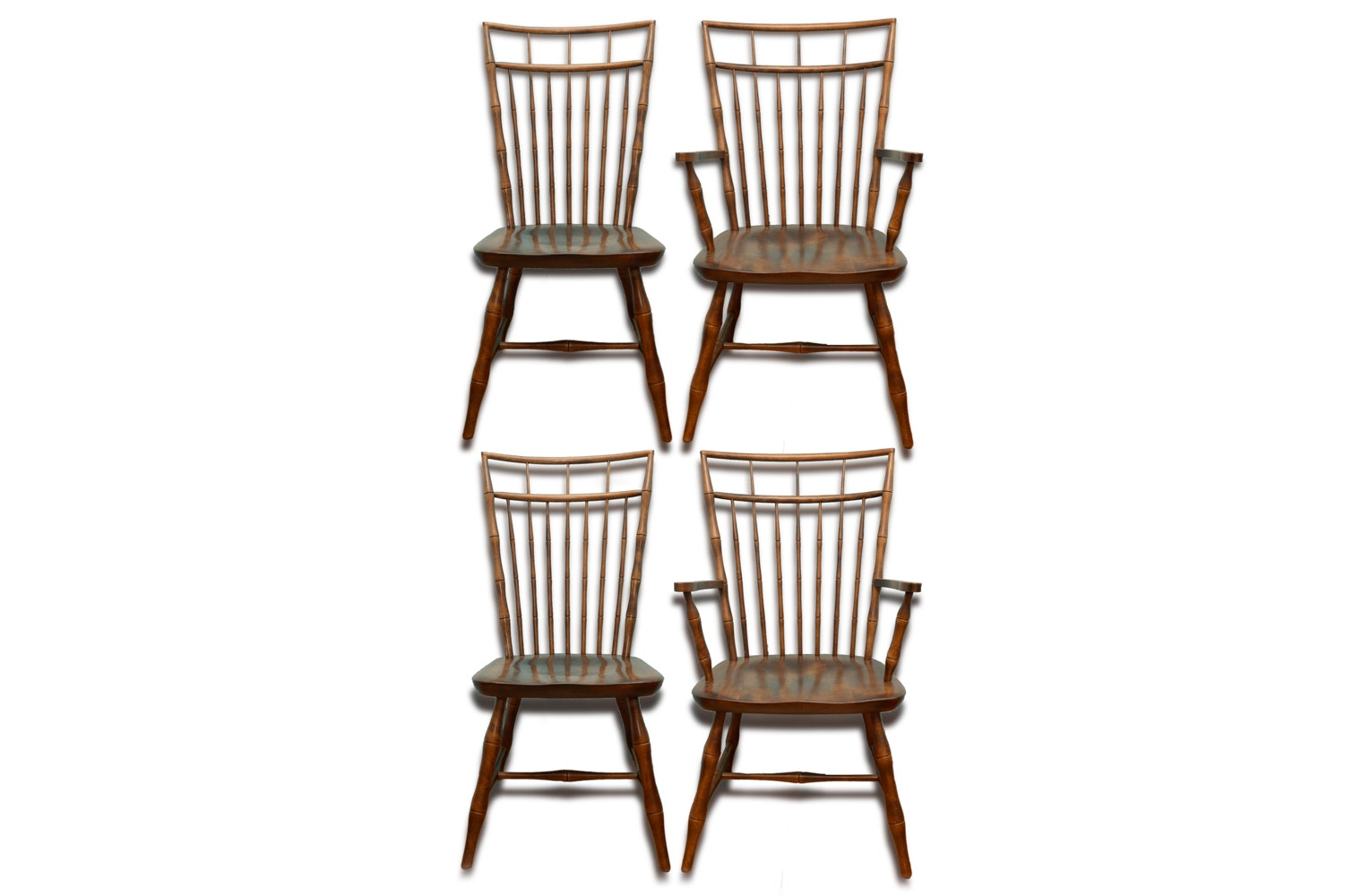 Birdcage Windsor Style Dining Chairs by Nichols & Stone Co.