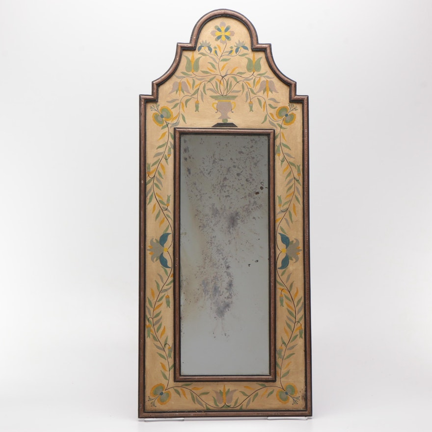 Vintage Chapman Hand Painted Wooden Wall Mirror