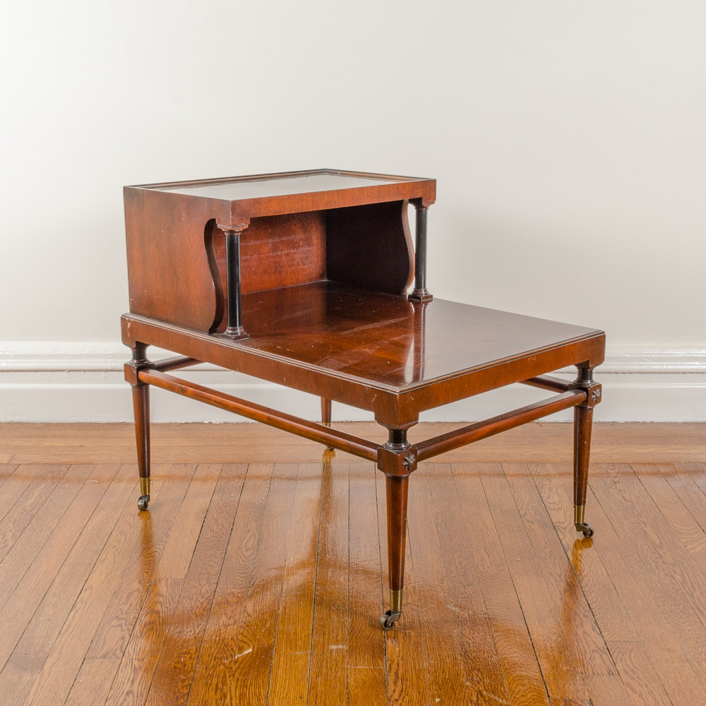 Vintage Mahogany Telephone Side Table
