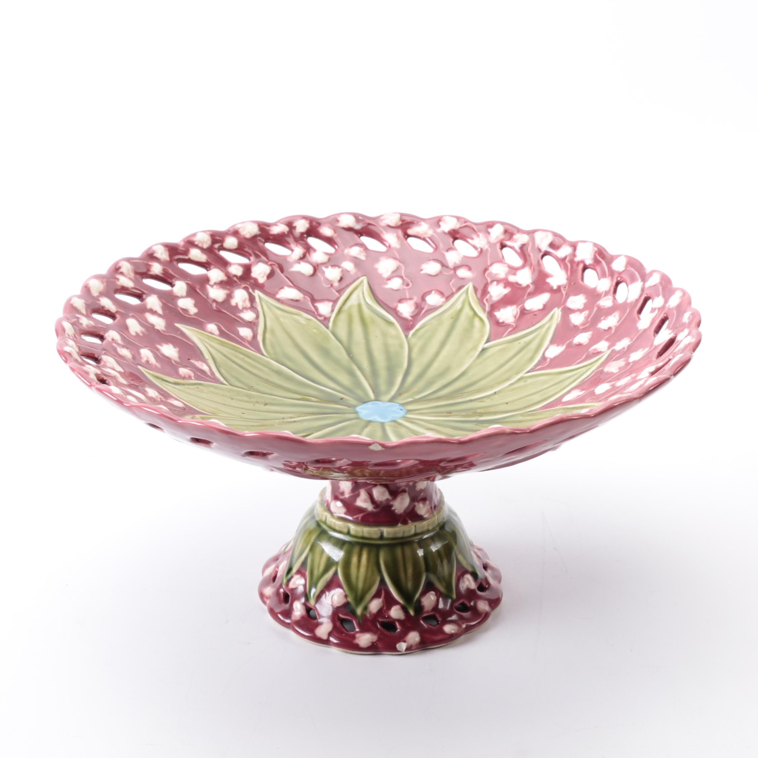 Bordallo Pinheiro Ceramic Compote