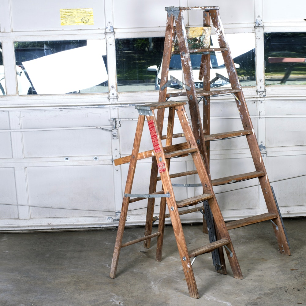 Two Wooden Ladders