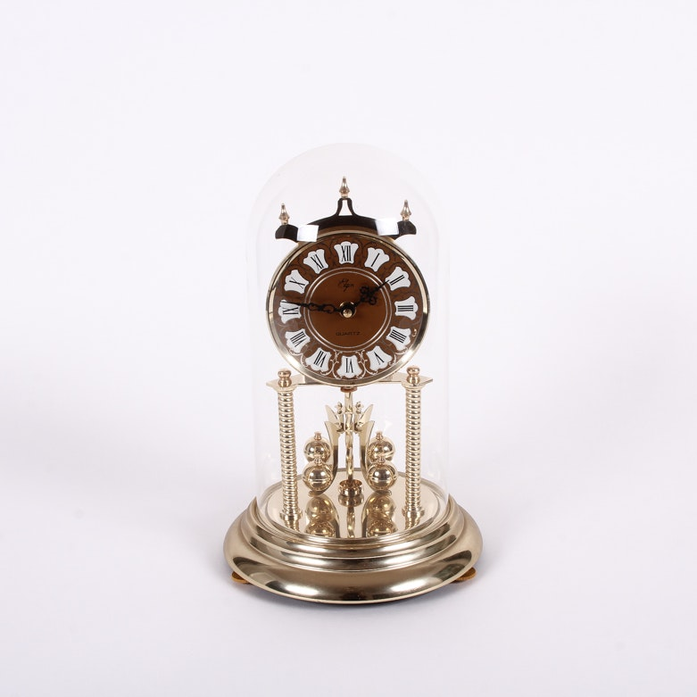 Elgin Glass Dome Mantel Clock