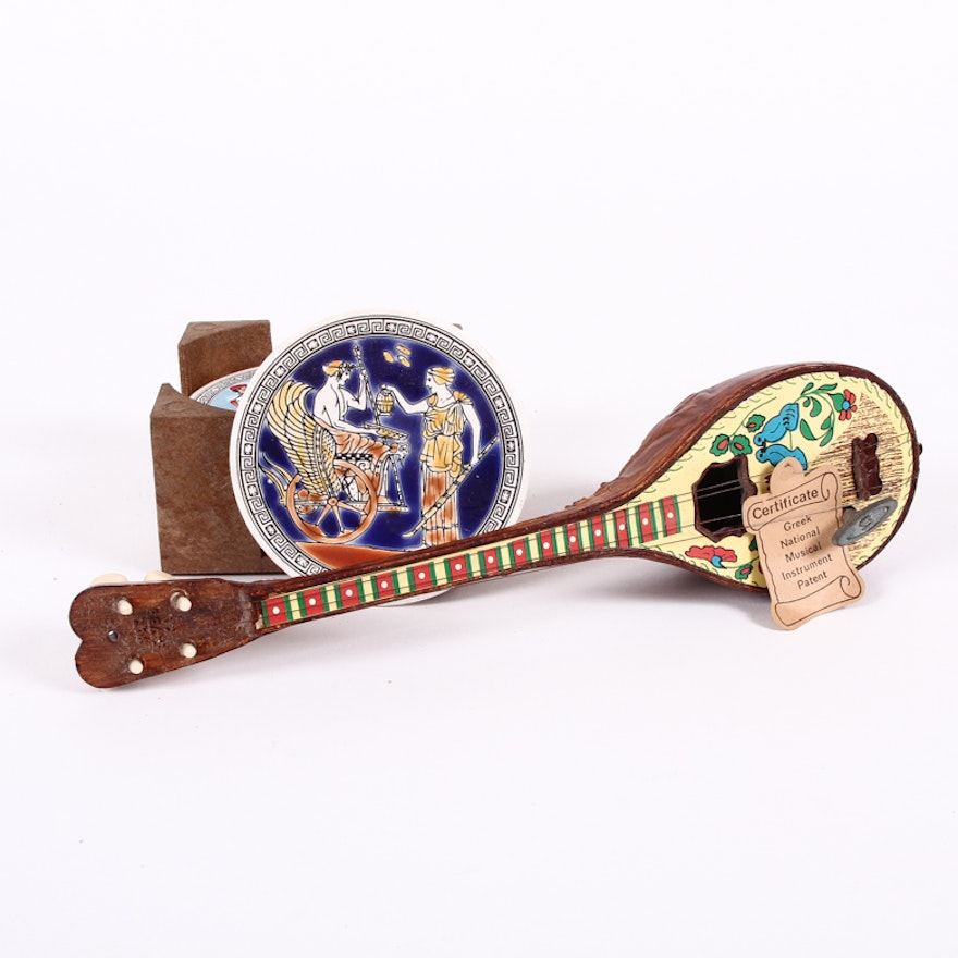 Hermes Hellas Bouzouki Music Box, Other Greek Souvenirs