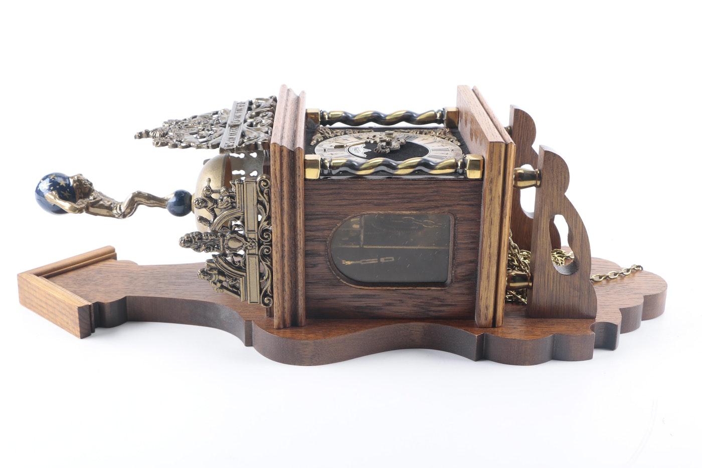 Vintage Dutch Warmink Wuba Pendulum Wall Clock Ebth