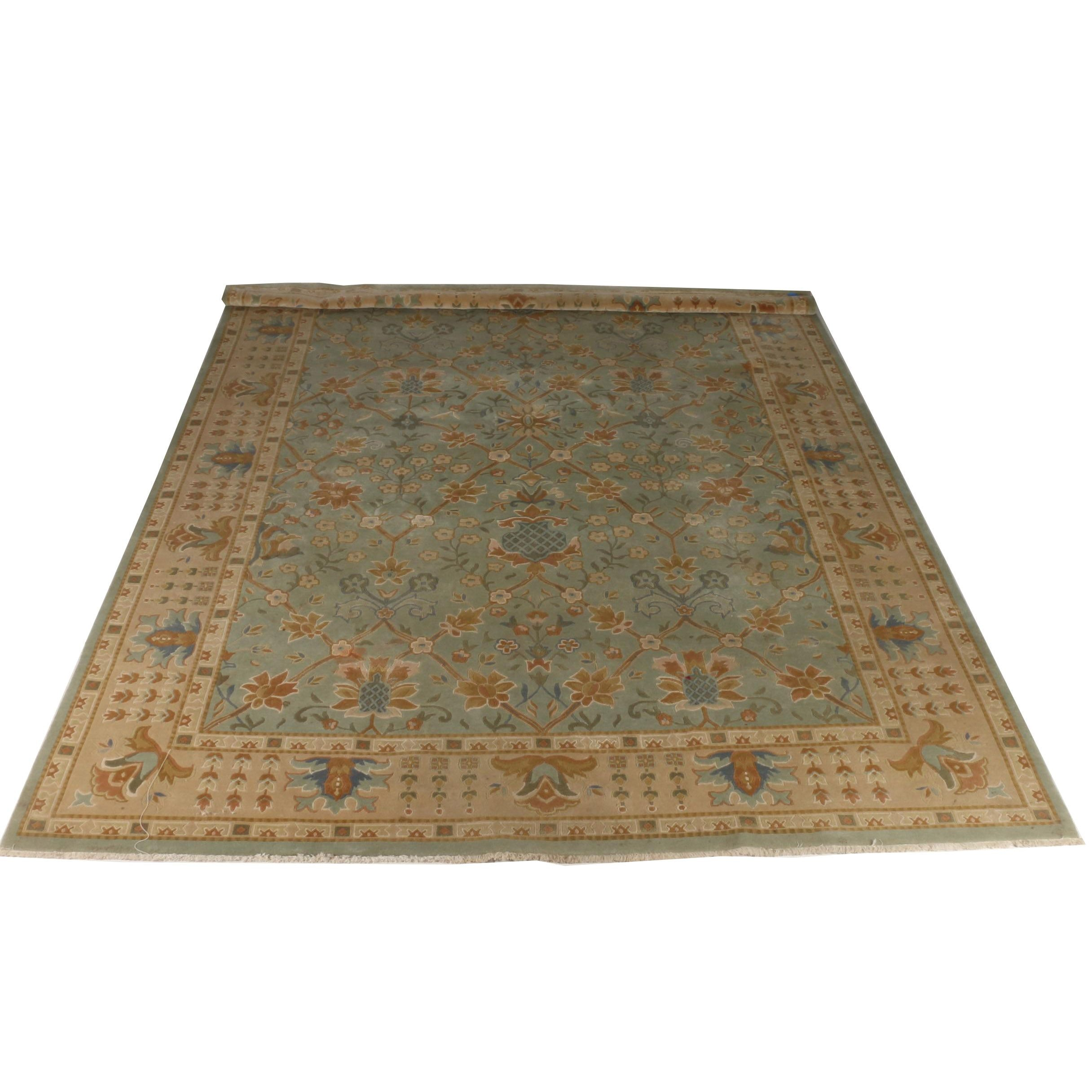 Hand-Knotted Ethan Allen Kerman Area Rug