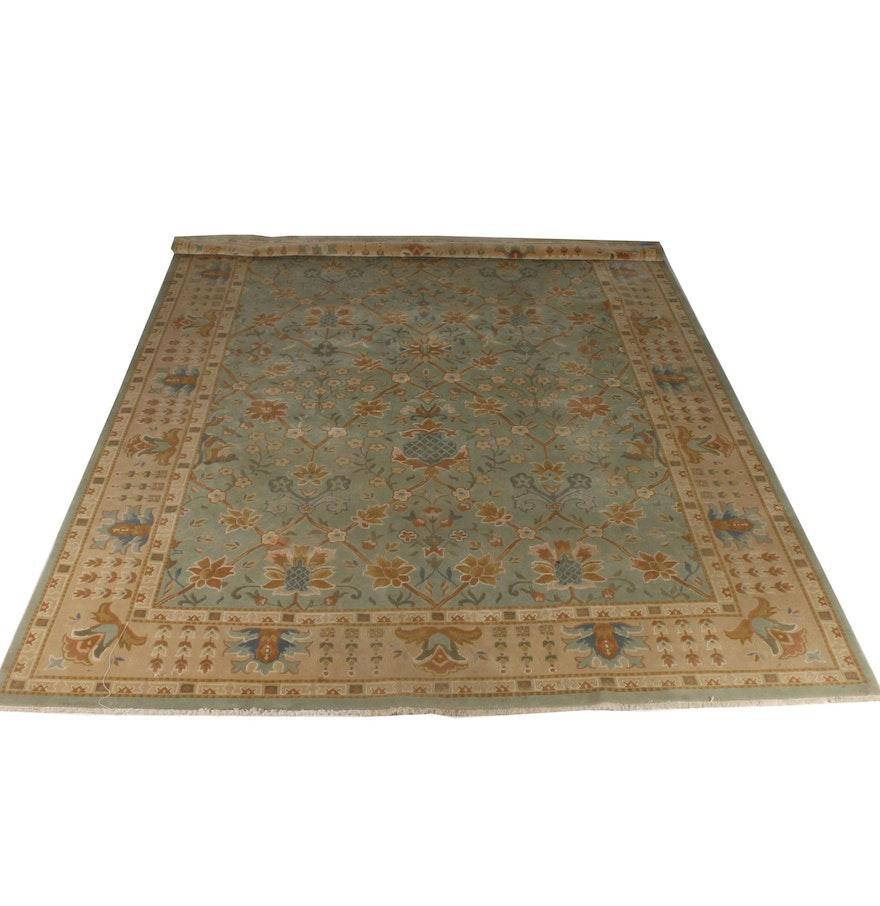 Persian Hand Woven Bakhtiari Style Wool Area Rug Ebth: Hand-Knotted Ethan Allen Kerman Area Rug : EBTH