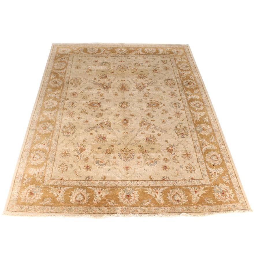 Persian Hand Woven Bakhtiari Style Wool Area Rug Ebth: Hand-Knotted Ethan Allen Kerman Area Rug