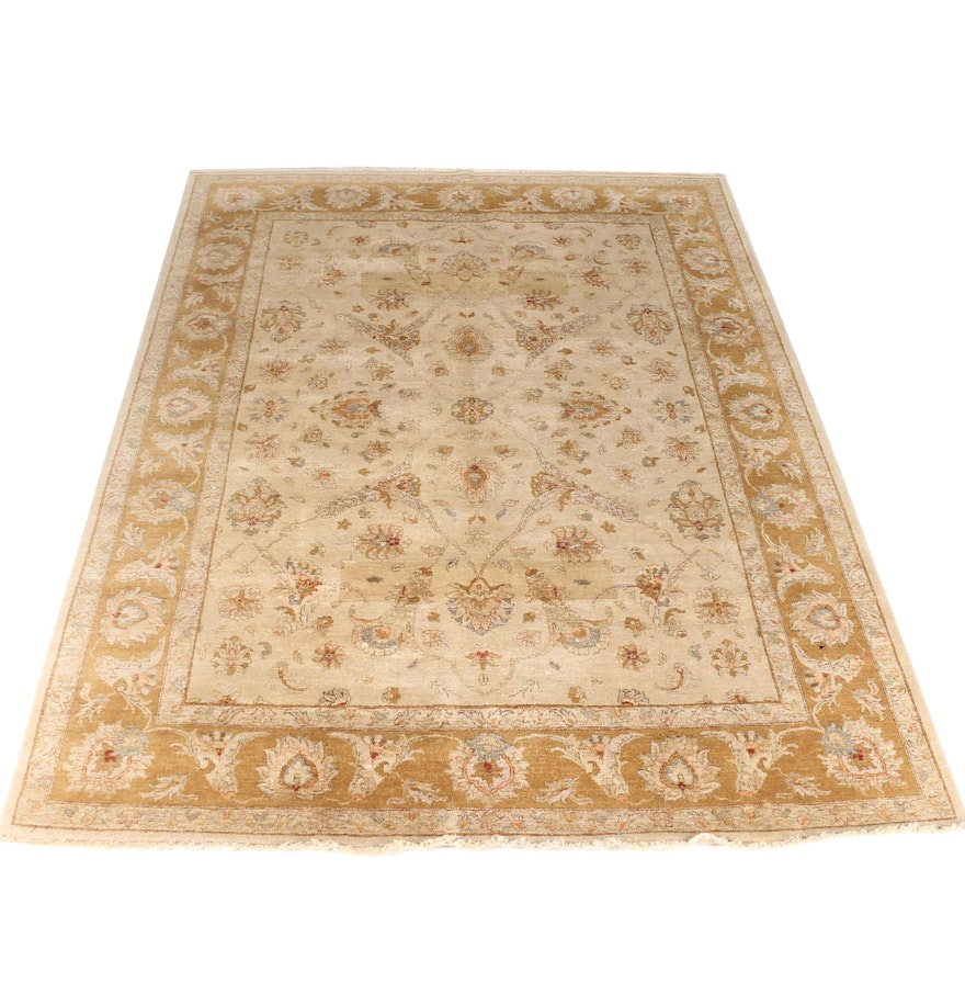 Hand Knotted Ethan Allen Kerman Area Rug Ebth