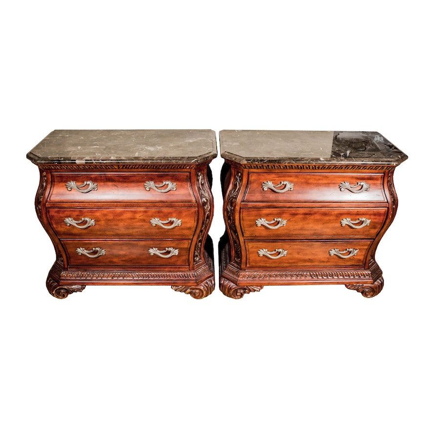 Pair of rococo style nightstands by wynwood furniture ebth for Rococo style furniture