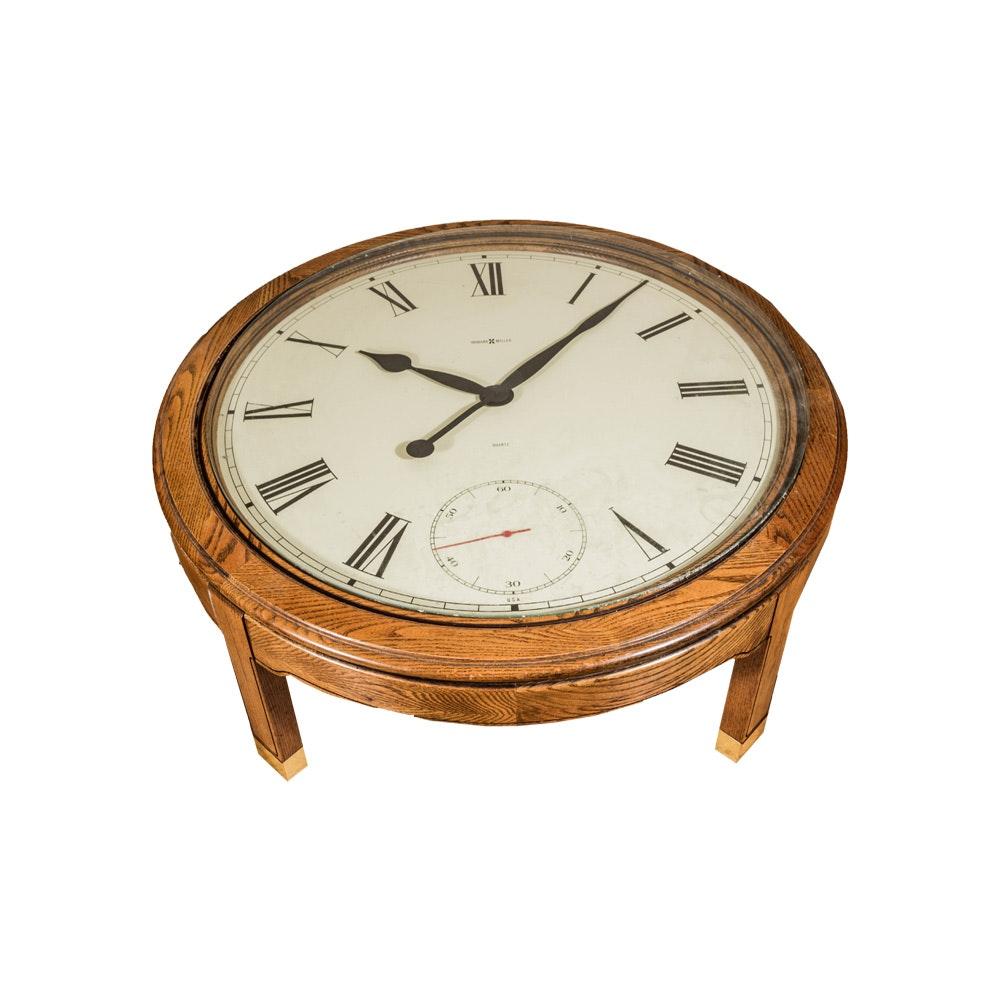 Oak Clock Table By Howard Miller ...