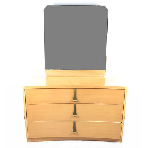 Art Deco Style Curve Front Dresser With Mirror by Sieling Modern