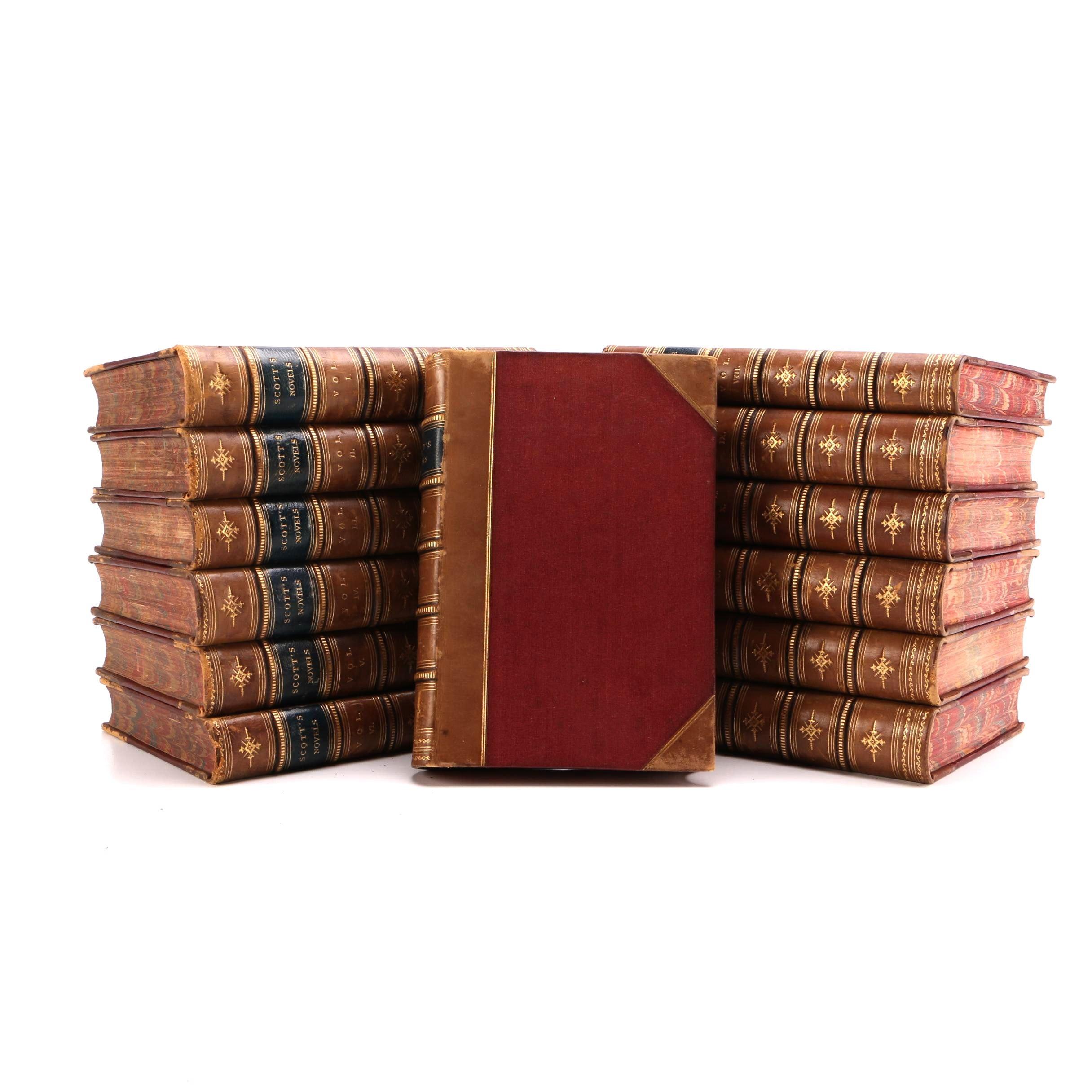 Antique Walter Scott Novel Collection