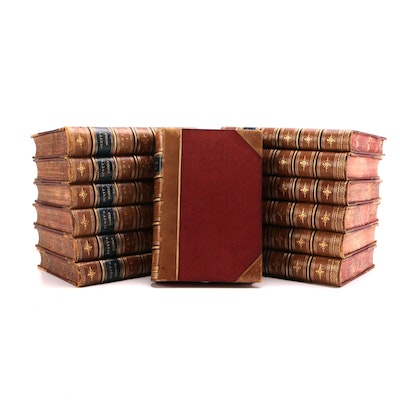 Antique Walter Scott Novel Collection
