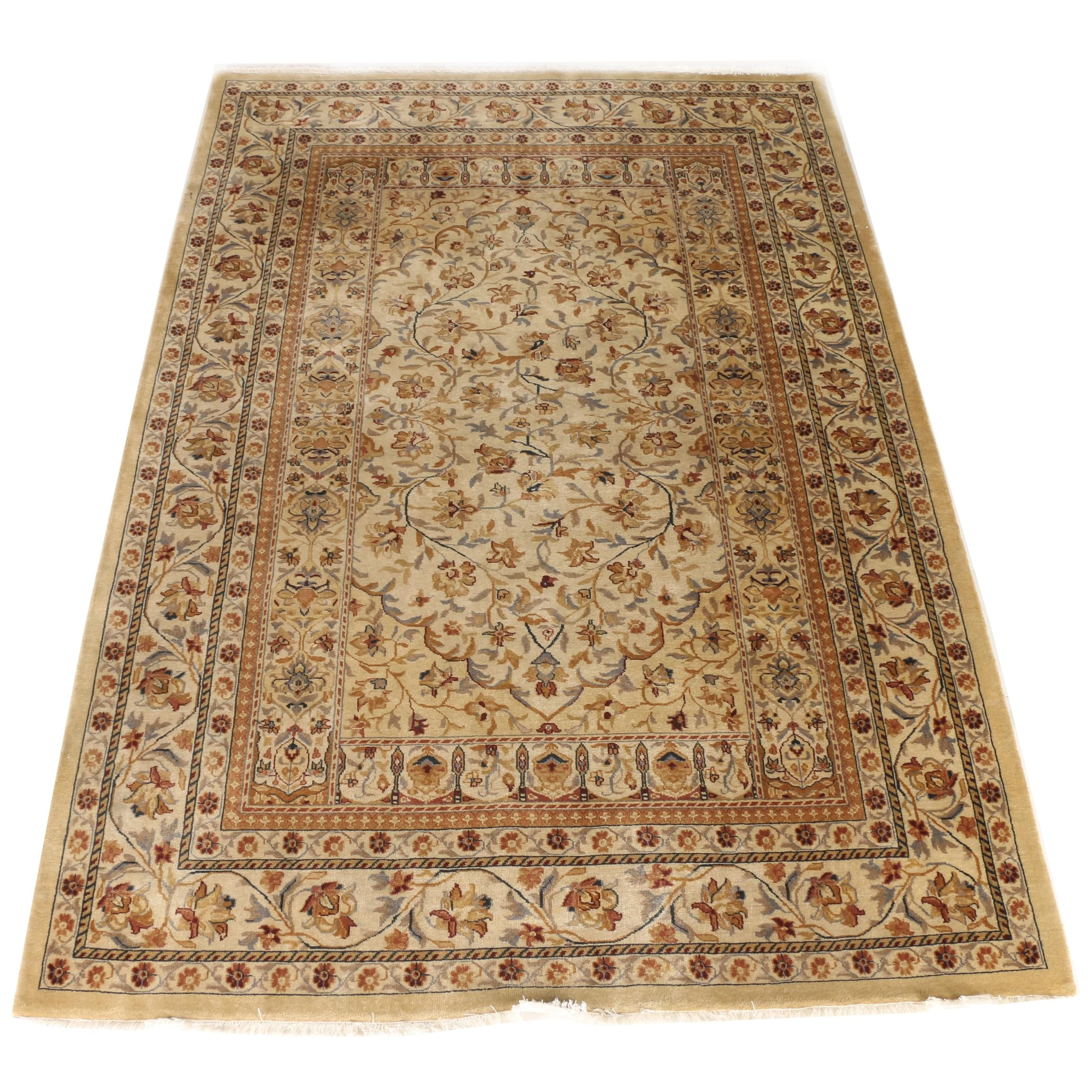 """Hand-Knotted Ethan Allen """"Romantic Taj"""" Persian Style Area Rug"""