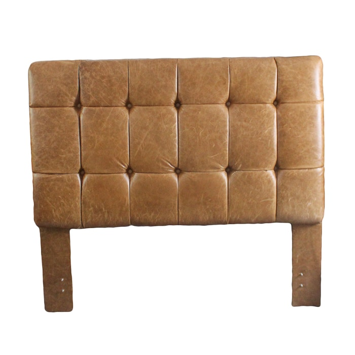 King Size Tufted Leather Headboard