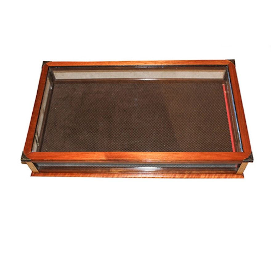 Gl And Wood Tabletop Display Case