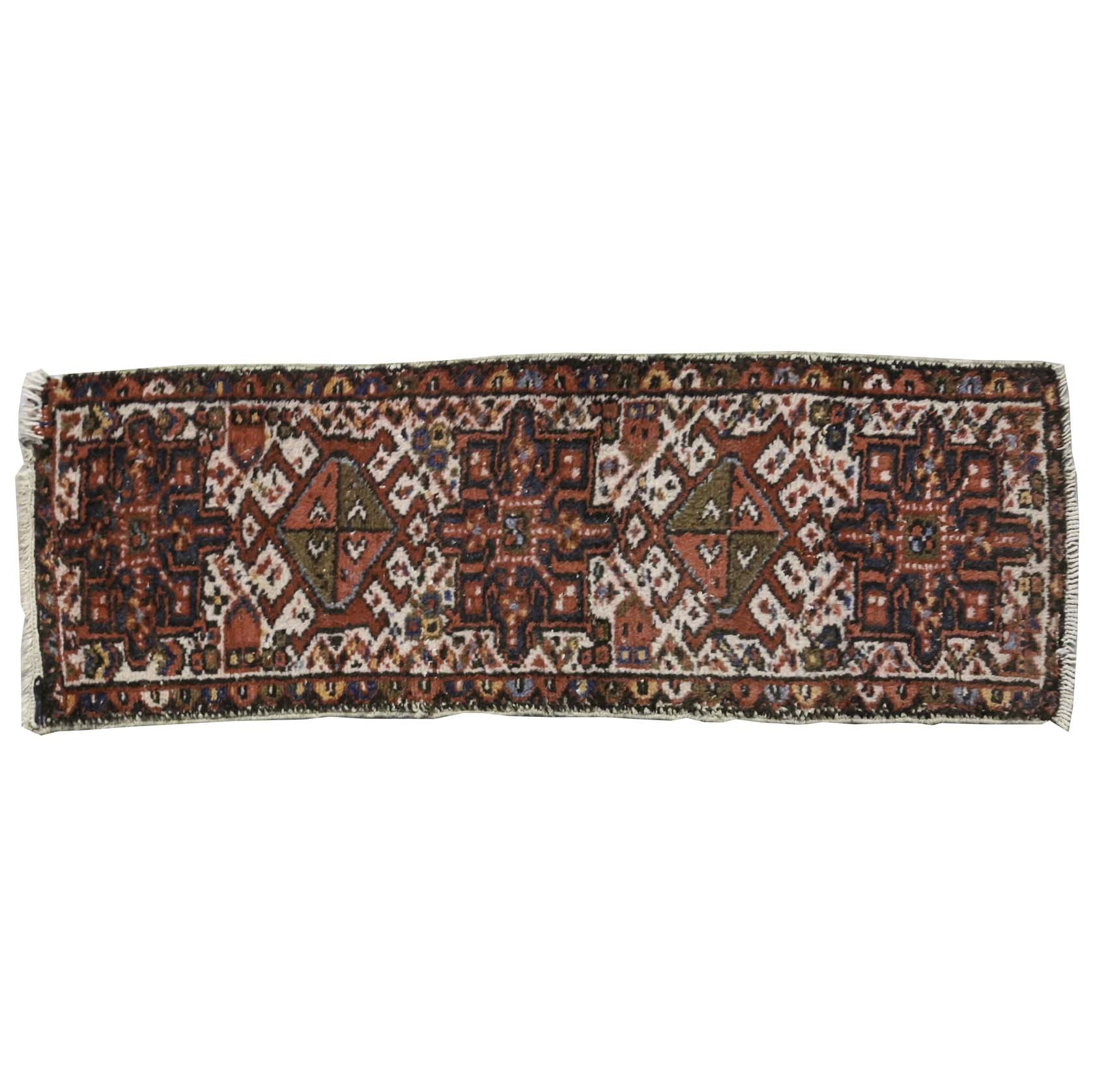 Antique Hand-Knotted Azeri Lamberan Carpet Runner
