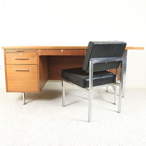 Mid Century Modern Desk with Chair
