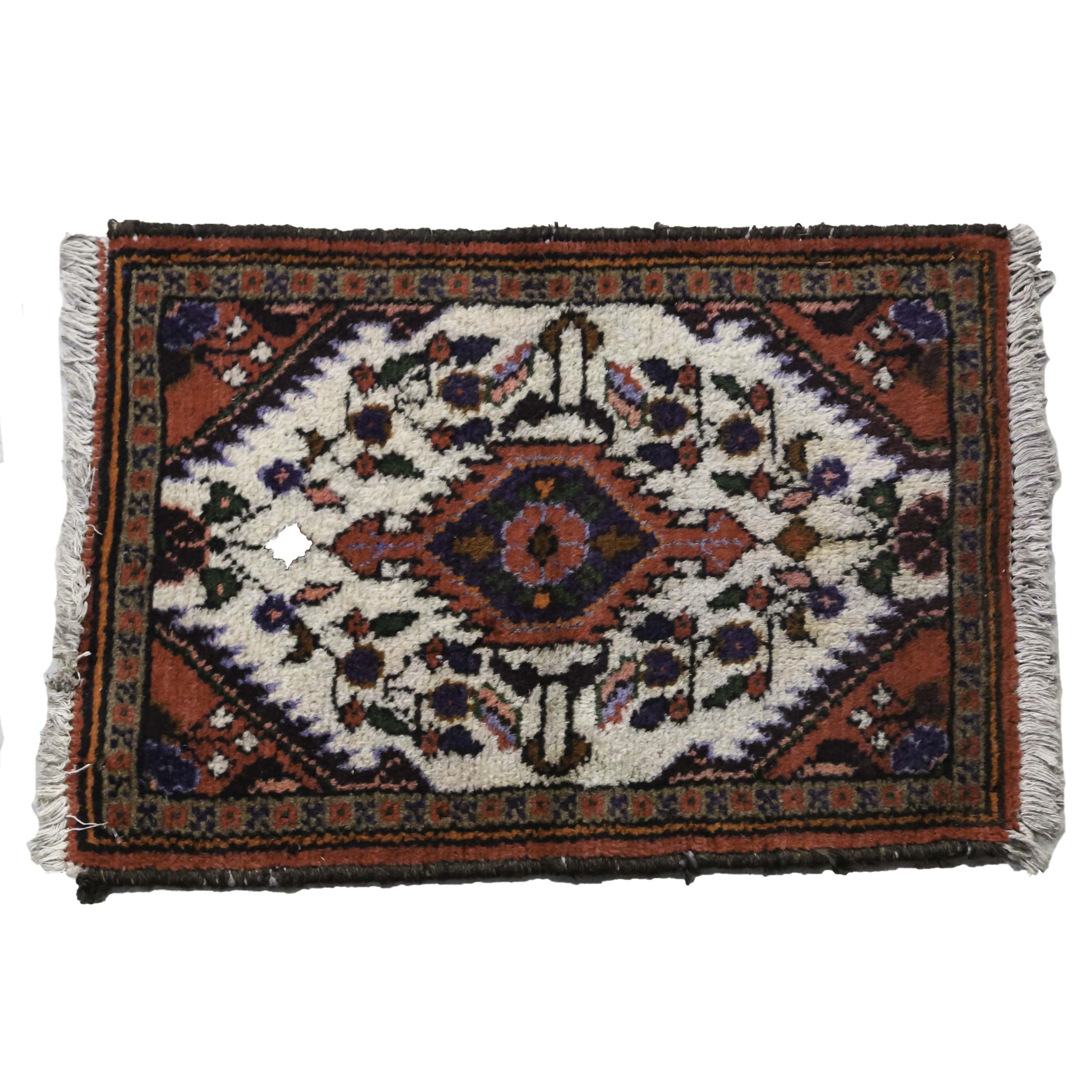 Hand-Knotted Wool Persian Hamadan Area Rug