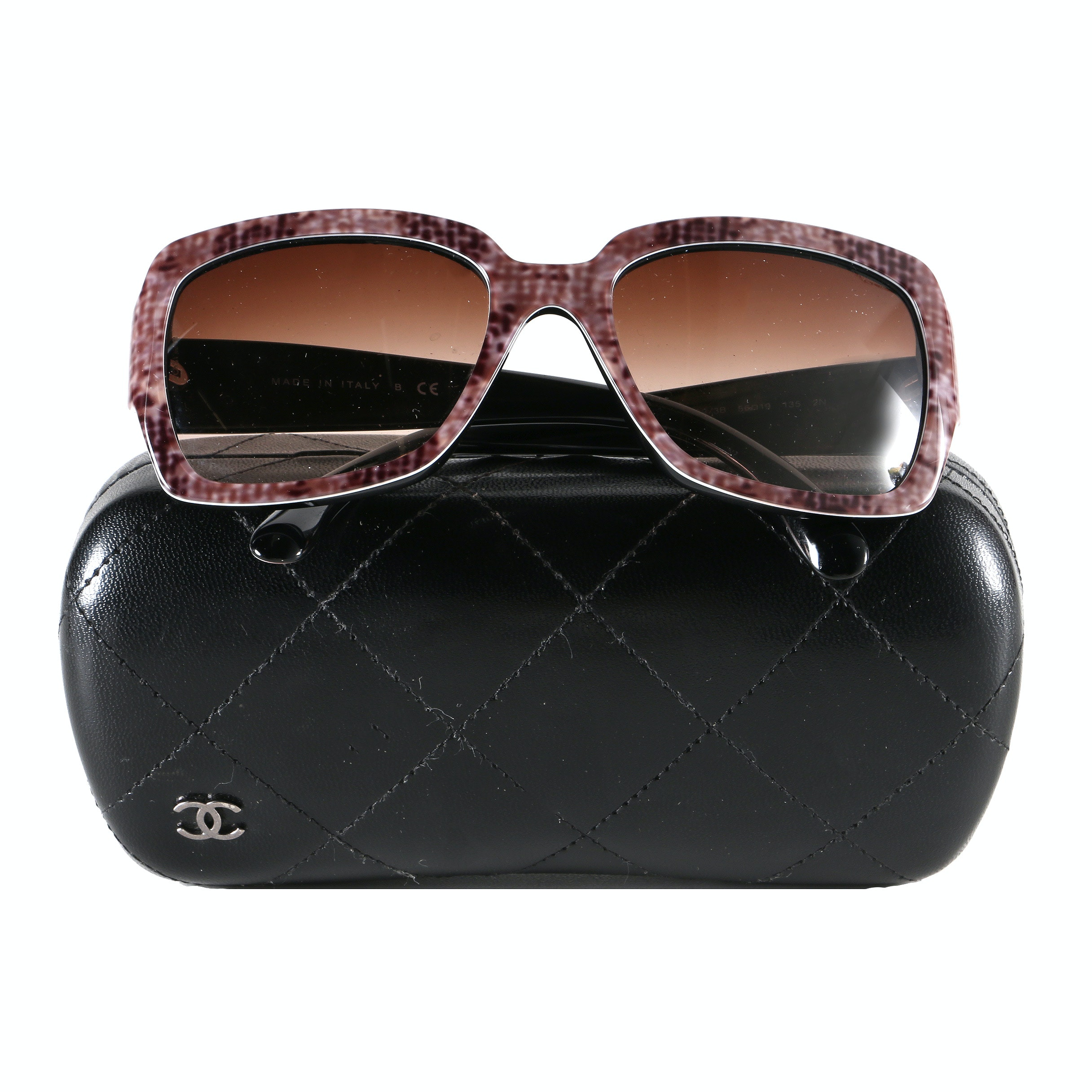 Chanel Tweed Print Sunglasses