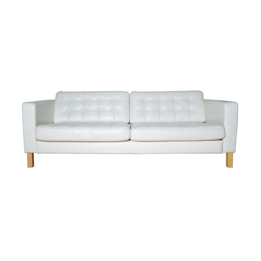 Quot Landskrona Quot Tufted Leather Sofa By Ikea Ebth