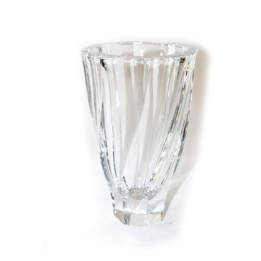 Olle Alberius For Orrefors Crystal Residence Flower Vase Ebth