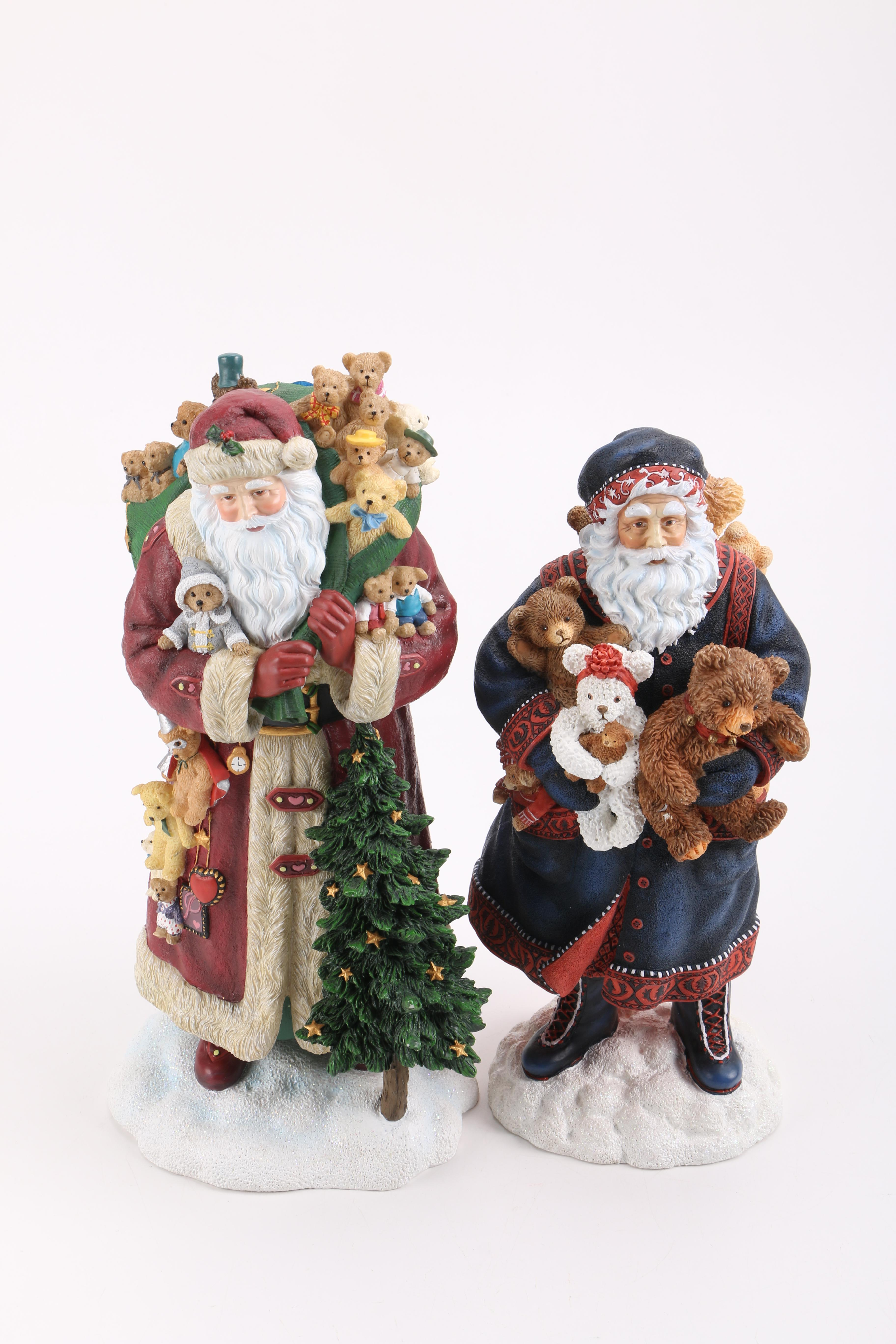 Two Pipka Santa Figurines