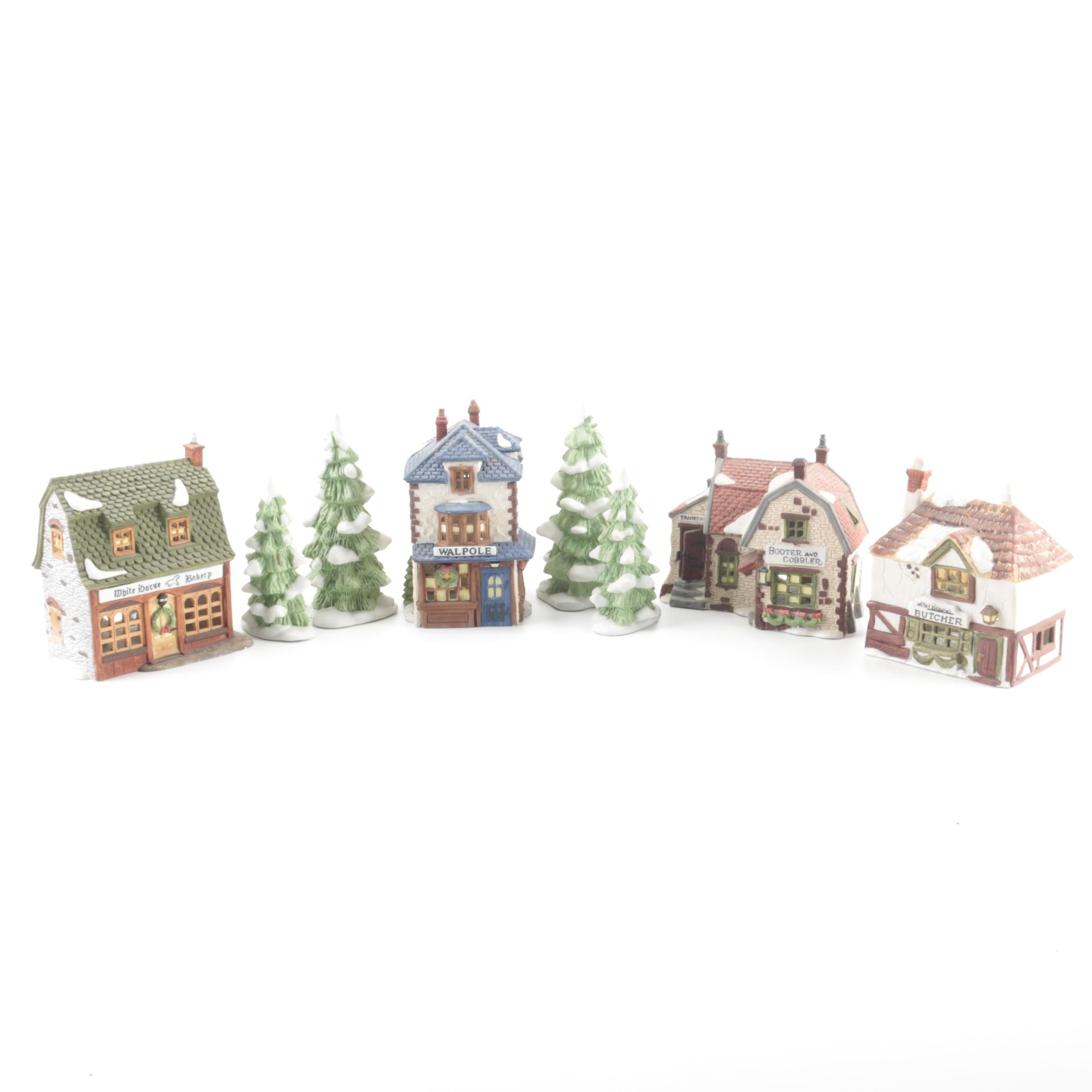 """Dickens' Village Series"" Christmas Village Pieces by Department 56"