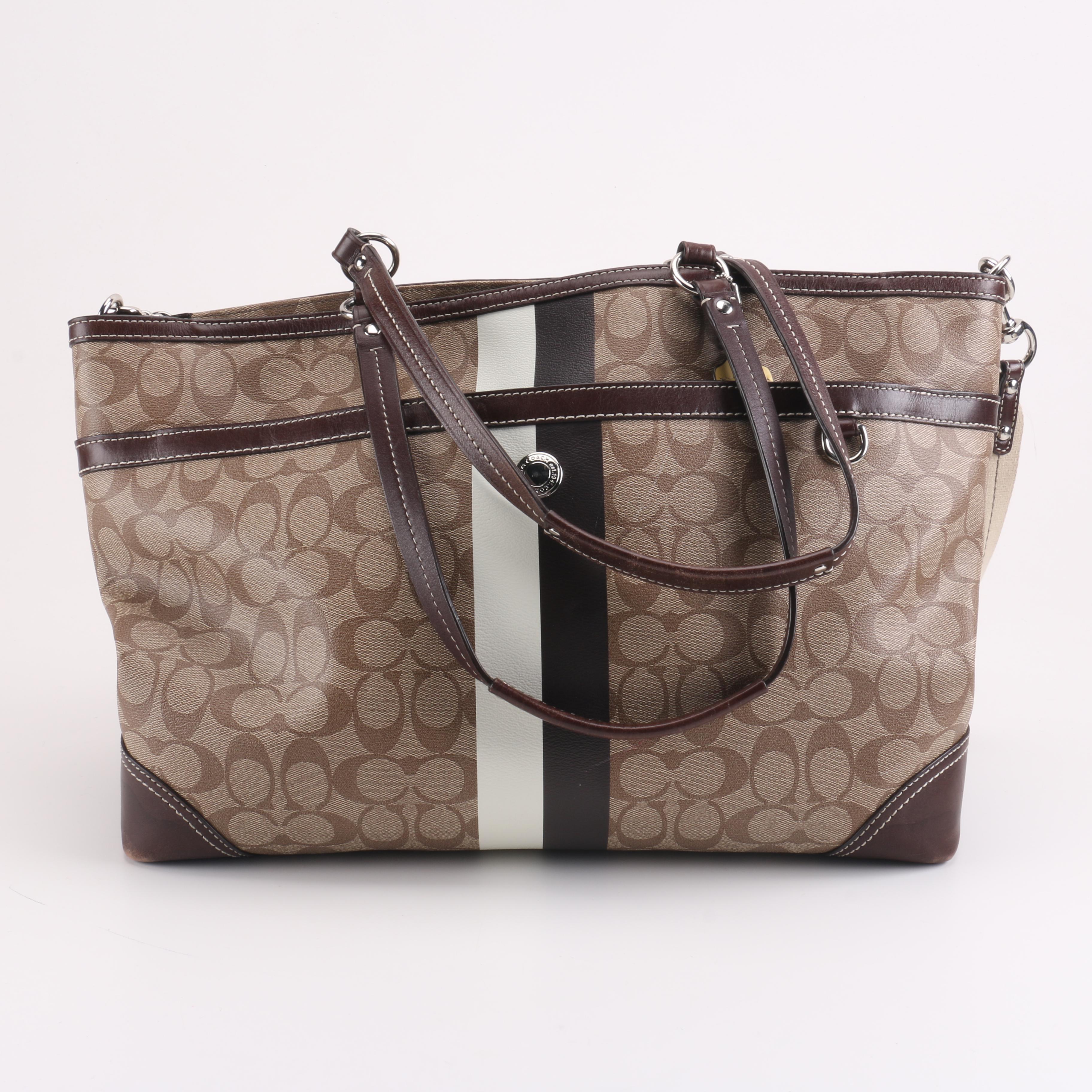 Coach Chelsea Heritage Stripe Diaper Bag