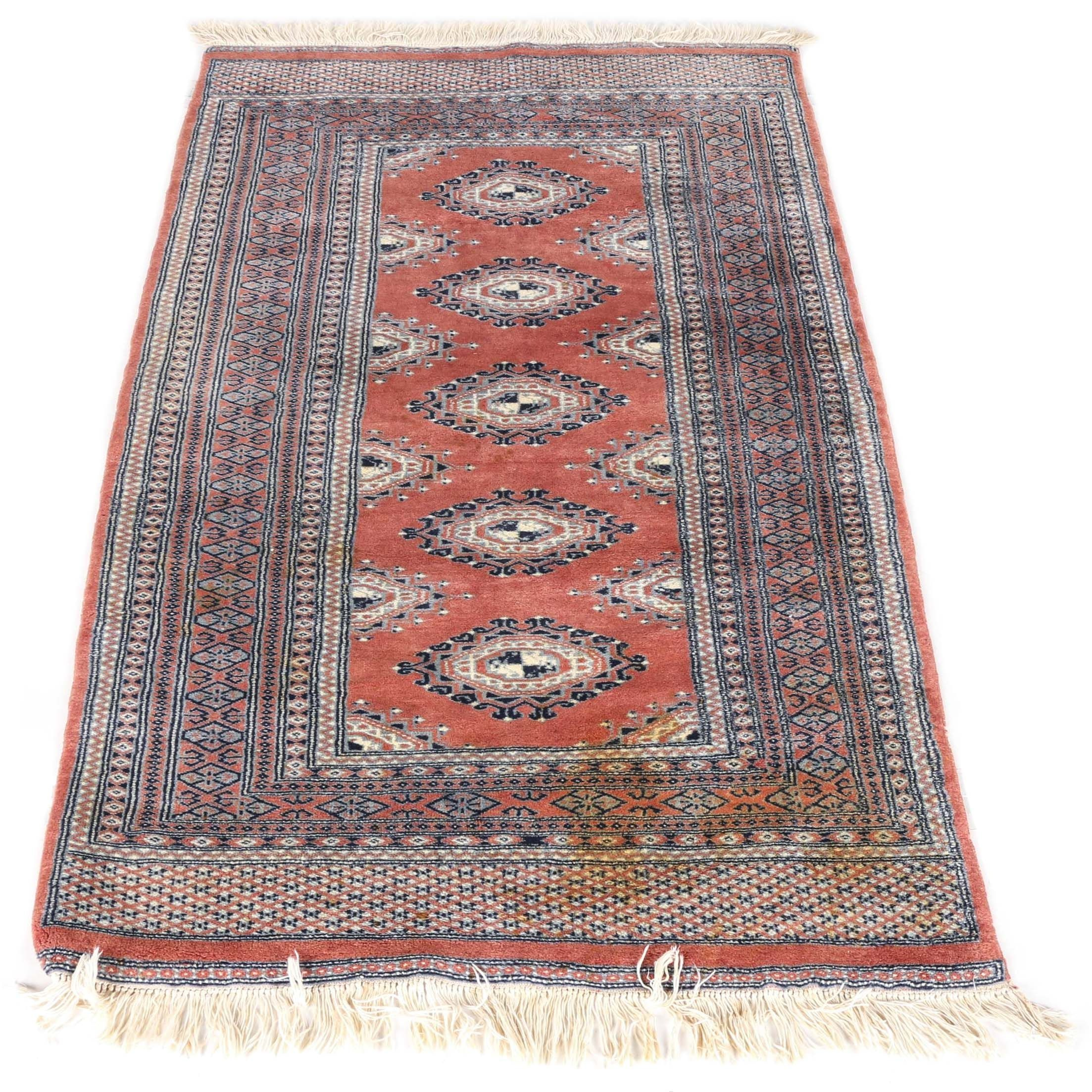 Hand-Knotted Salor Bokhara Area Rug