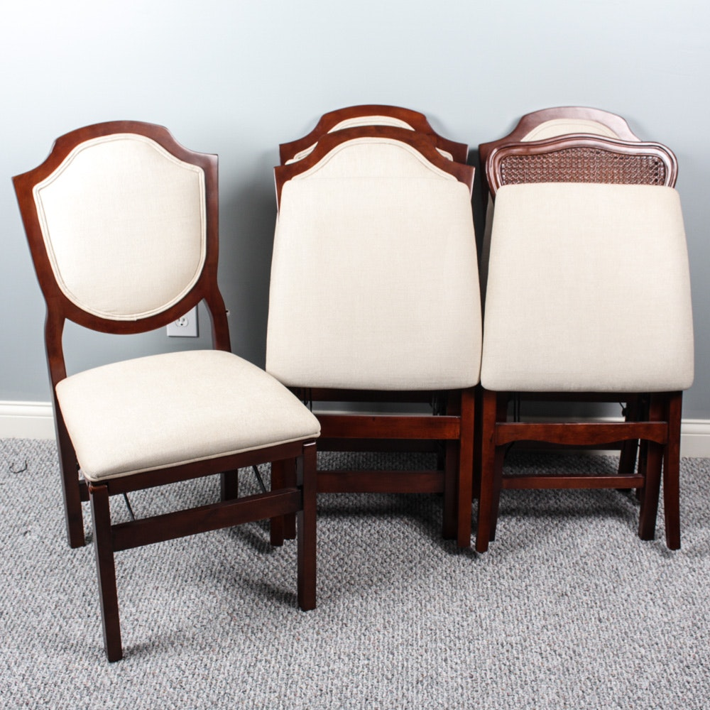 Five Frontgate Folding Chairs