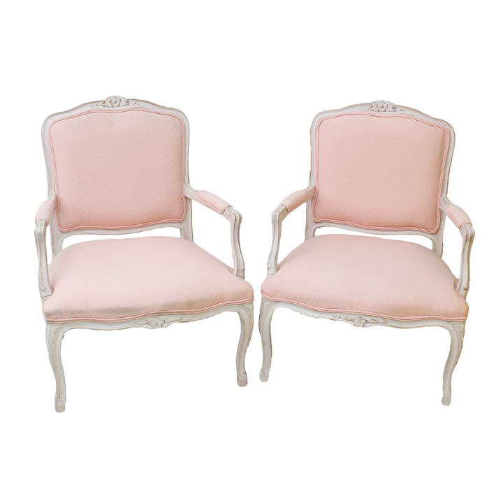 Pair of Vintage Louis XV Style Chairs