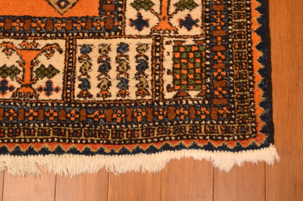 Hand-Knotted Iranian Area Rug