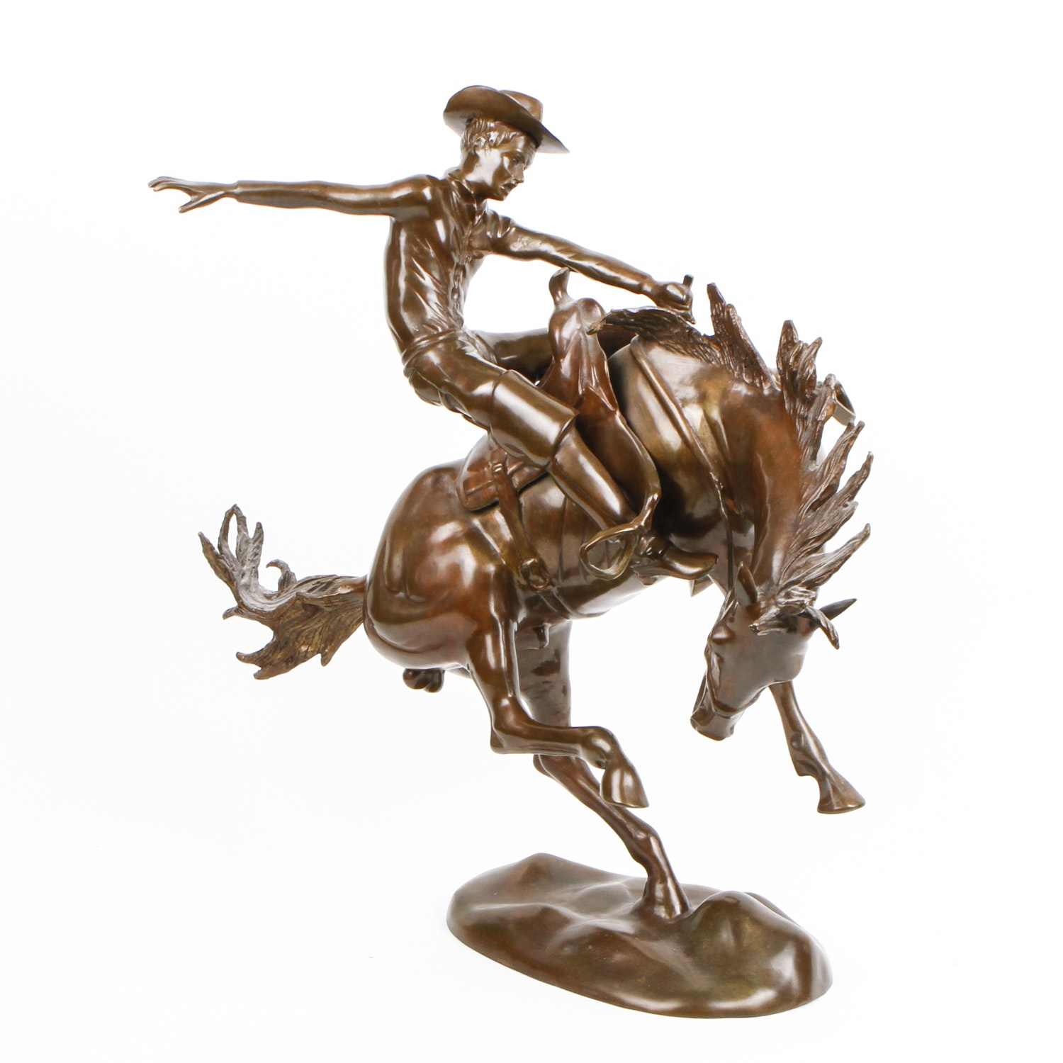 Cowboy on Horse Statue