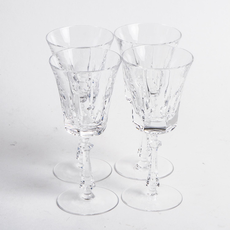 Vintage Crystal Stemware Goblets