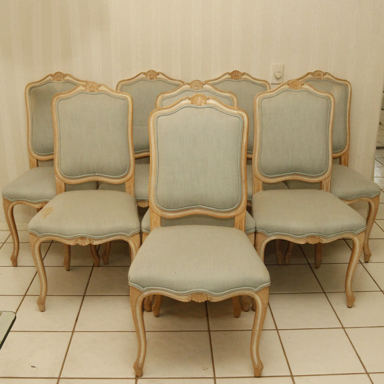 Vintage Louis XV Style Dining Chair Set
