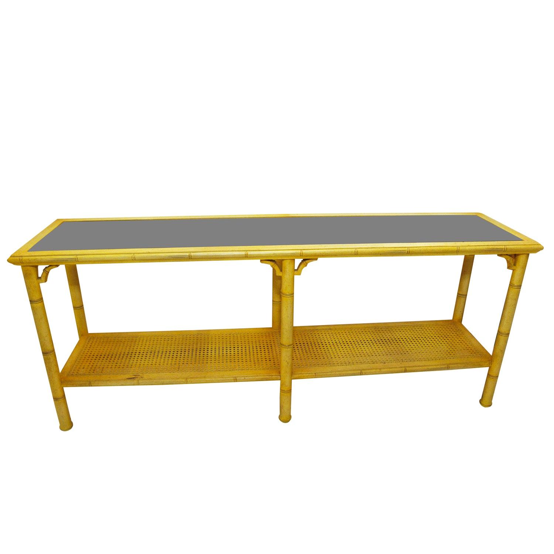 Bamboo Cane Sofa Table