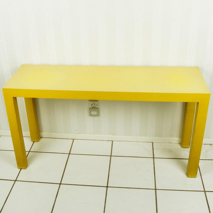 Yellow Laminate Parsons Sofa Table