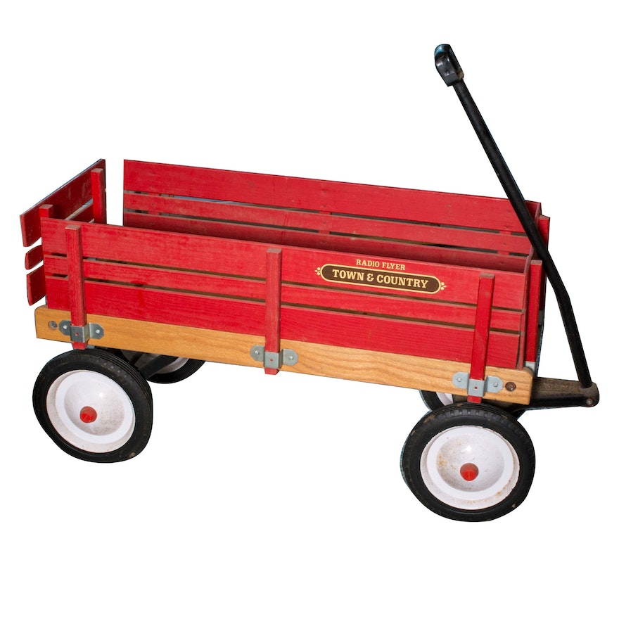 Red Radio Flyer Town Country Wagon Ebth