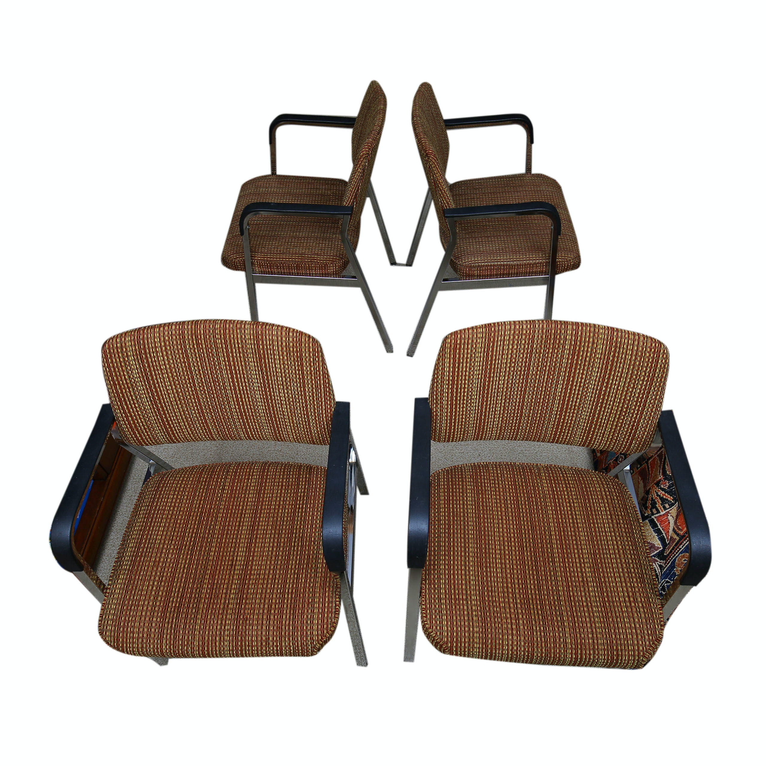 Contemporary Upholstered Metal Chairs