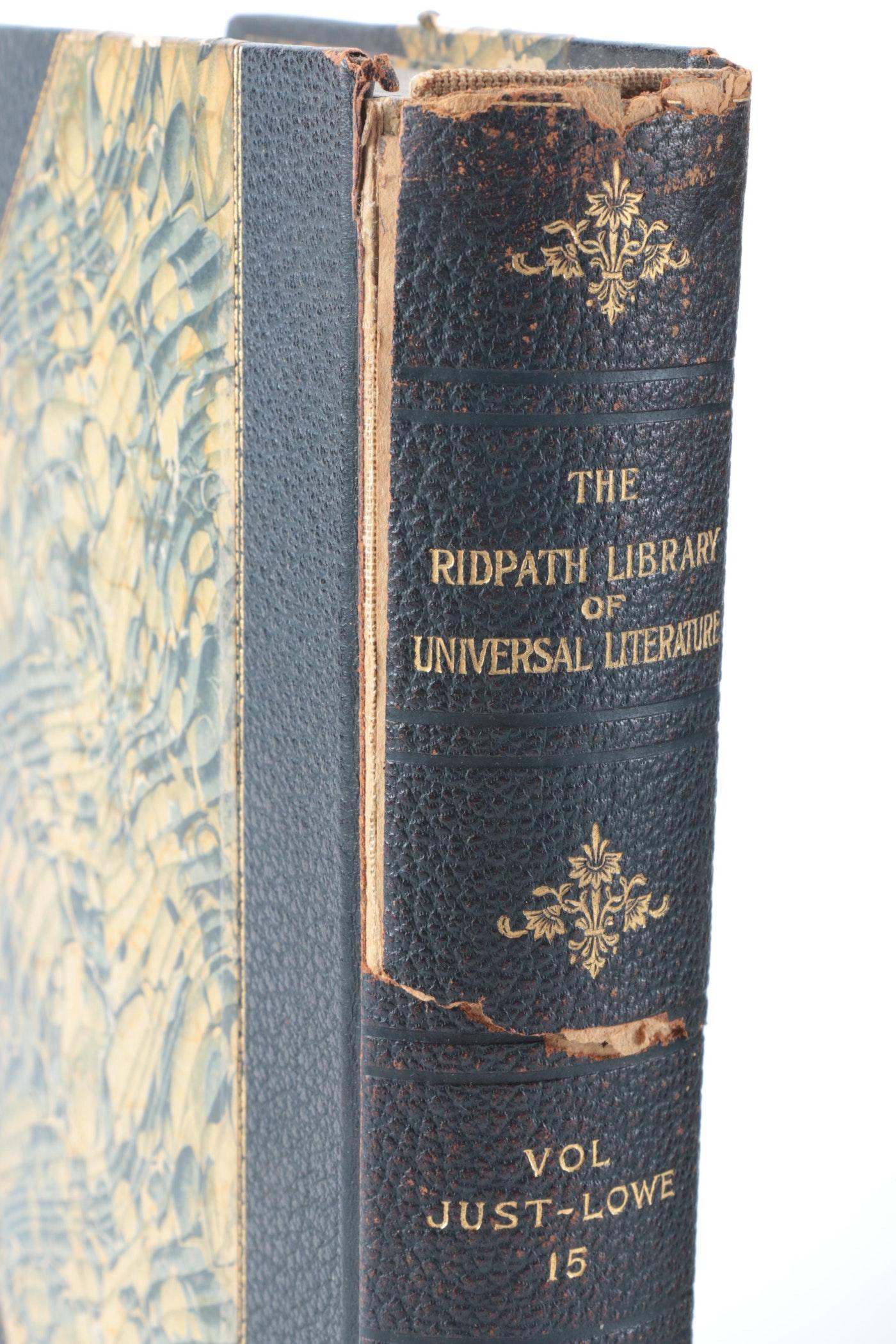"Cary Auto Sales >> ""The Ridpath Library of Universal Literature"" Multi-Volume Set | EBTH"