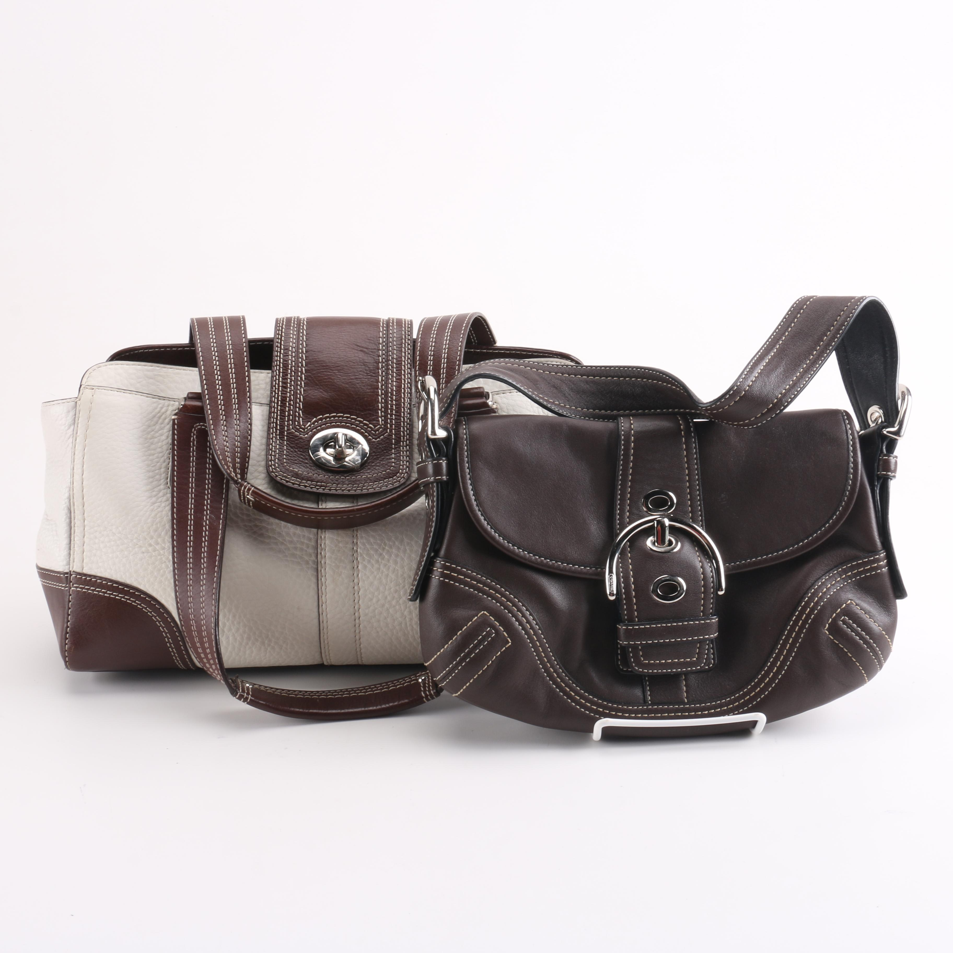 Coach Hamptons Satchel and Soho Buckle Flap Handbags