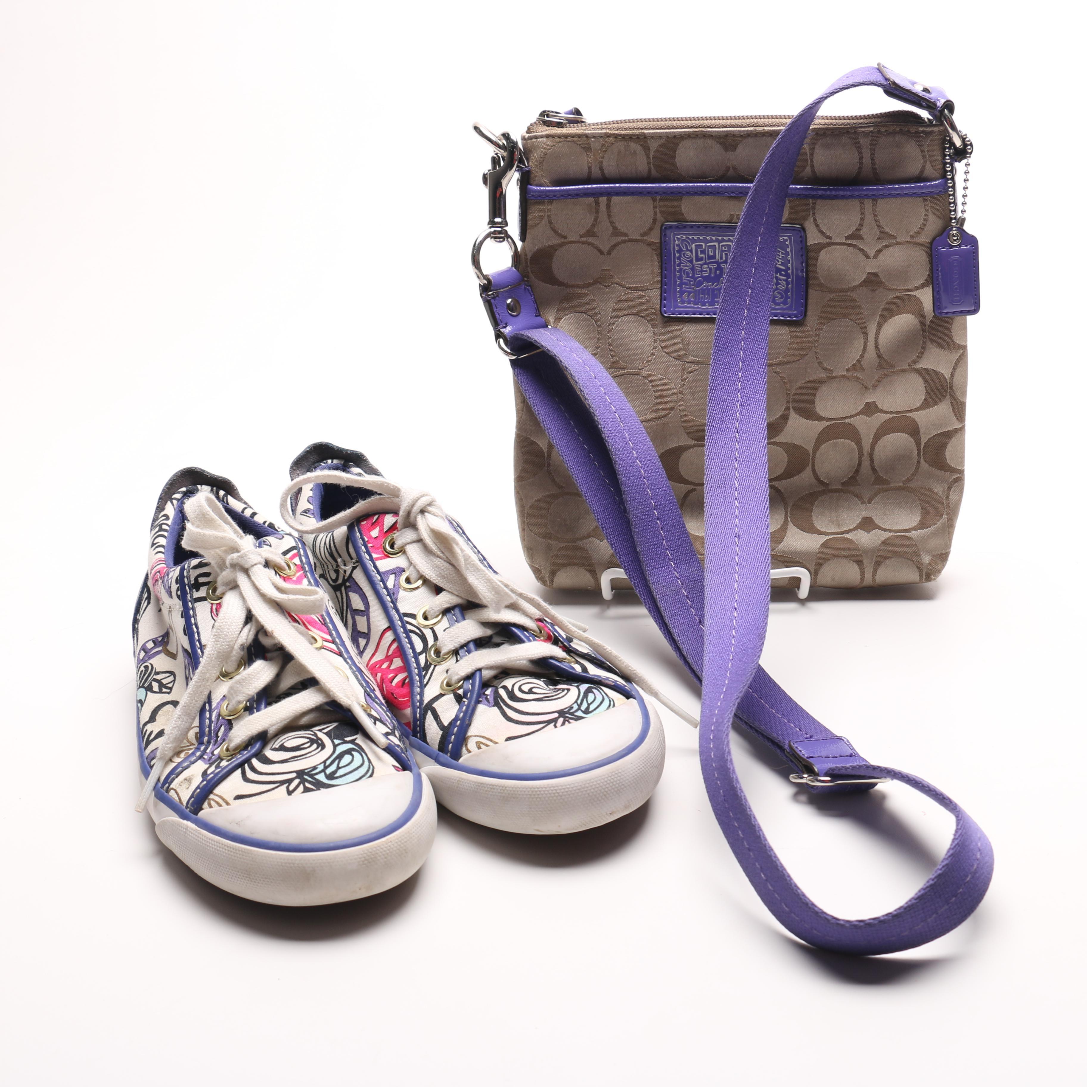 Coach Barrett Sneakers and Cross Body Sling Bag