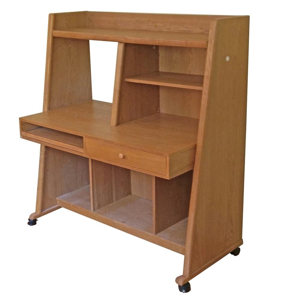 Contemporary Desk With Shelves