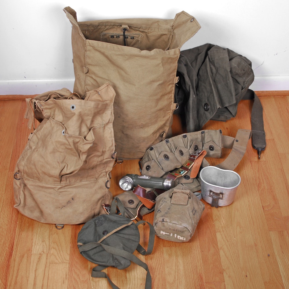 Collection of Boy Scouts Field Gear