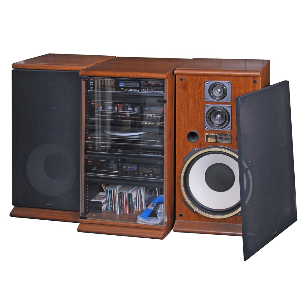 Fisher Studio Standard Stereo System In Cabinet With Speakers ...