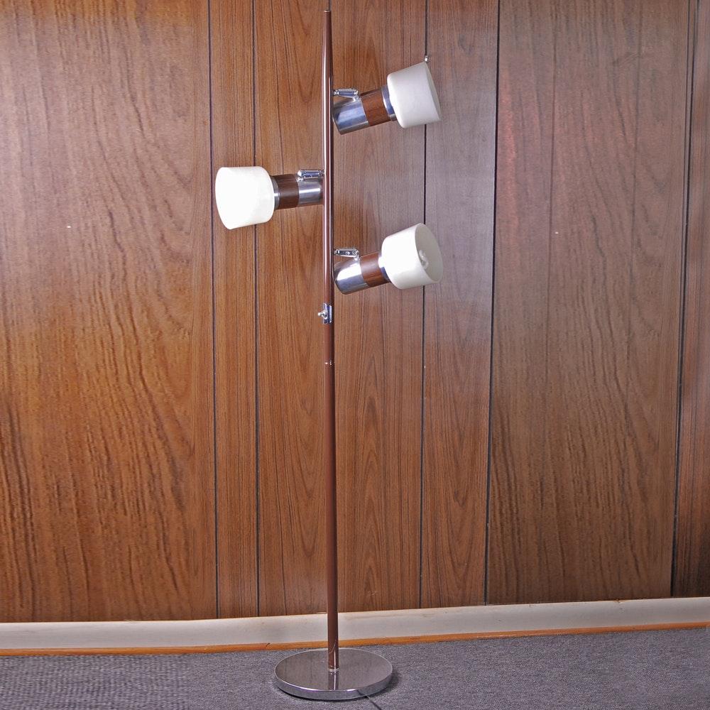 3-Light Wooden Floor Lamp