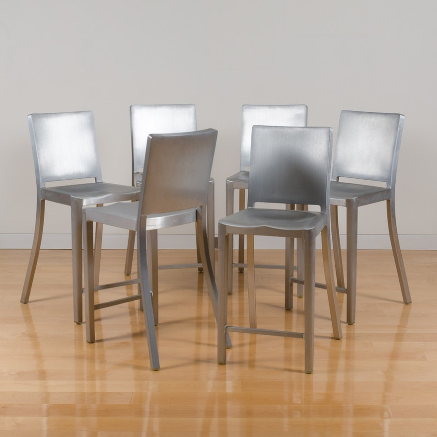 Awe Inspiring Emeco Aluminum Bar Stools By Starck Squirreltailoven Fun Painted Chair Ideas Images Squirreltailovenorg