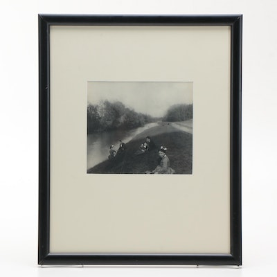 "Photogravure ""Along The Seine Embankment"""