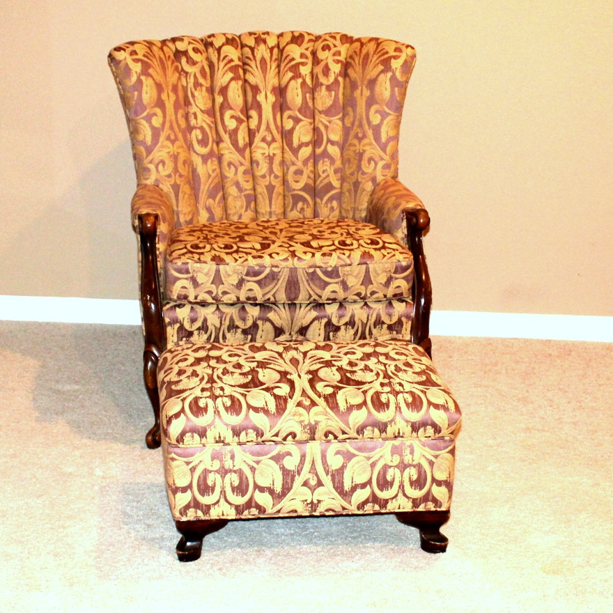 Vintage Channel Back Chair And